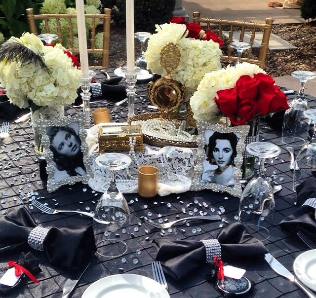 Old Hollywood Bridal Shower For Natalie Buscemi Fabulous Red
