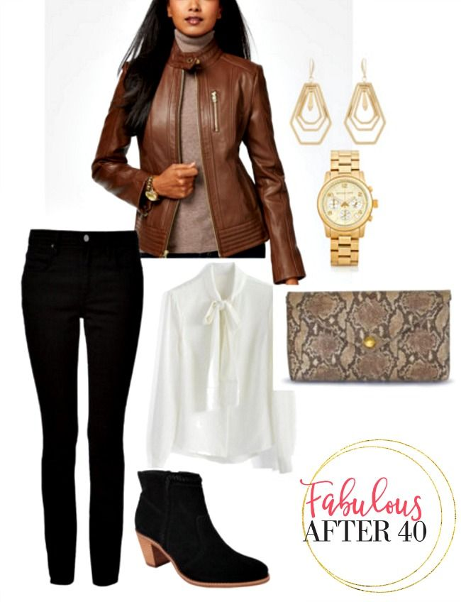 d7e929849de 3 Cool Ways to Style a Leather Jacket Over 40