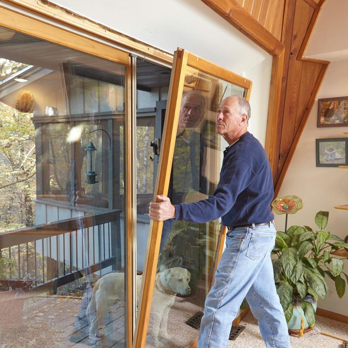 Drafty Patio Door? Weatherstripping Stops Drafts Cold