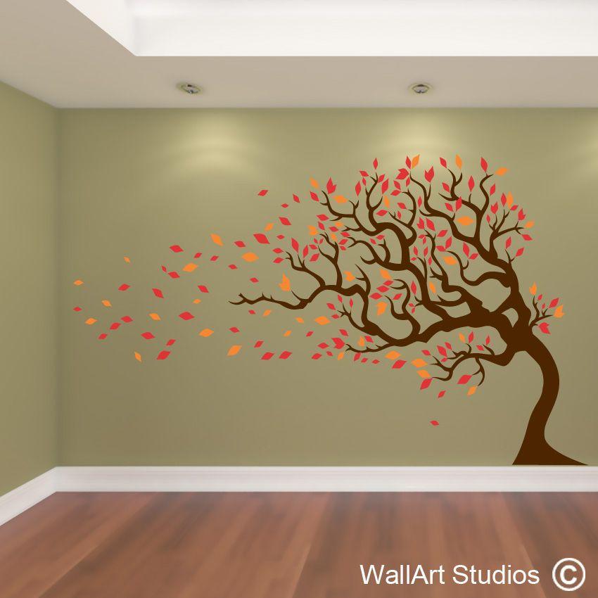 Autumn Tree Tree Wall Painting Tree Wall Art Wall Art Designs