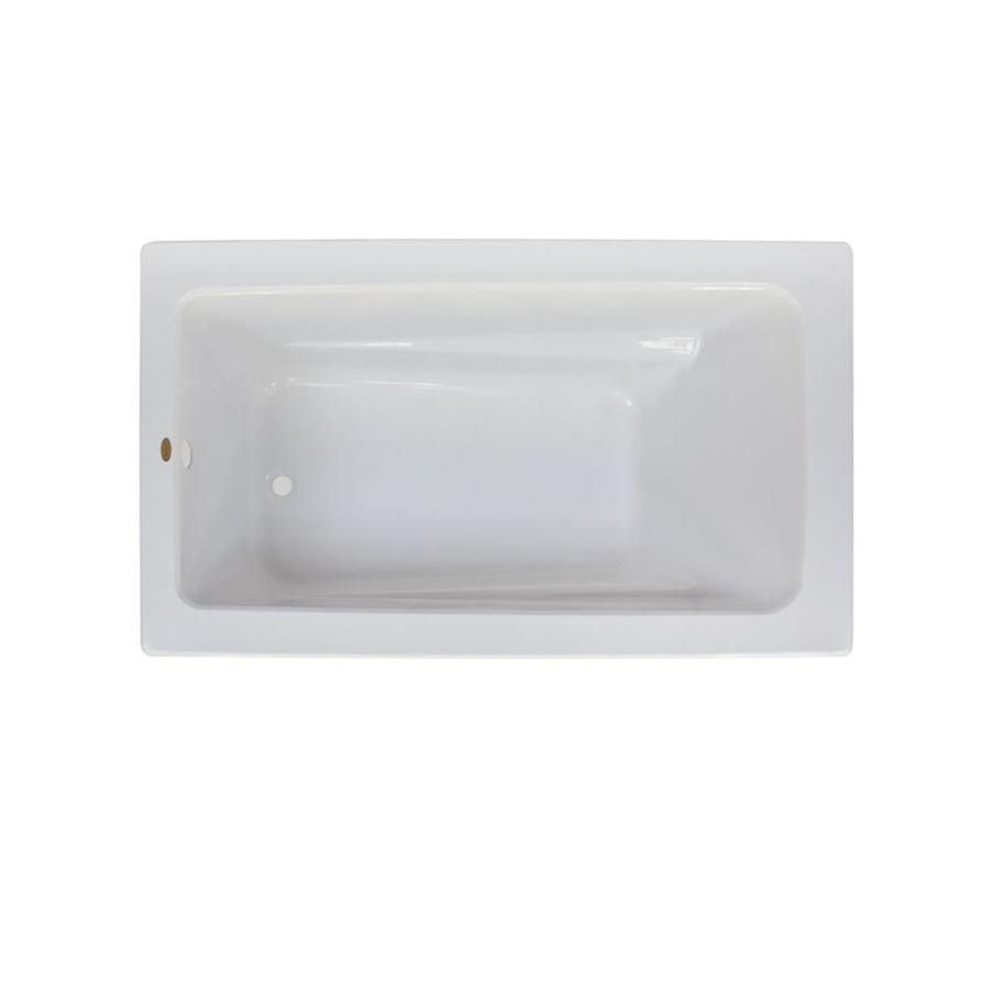Jacuzzi Primo White Acrylic Rectangular Drop-In Bathtub With ...