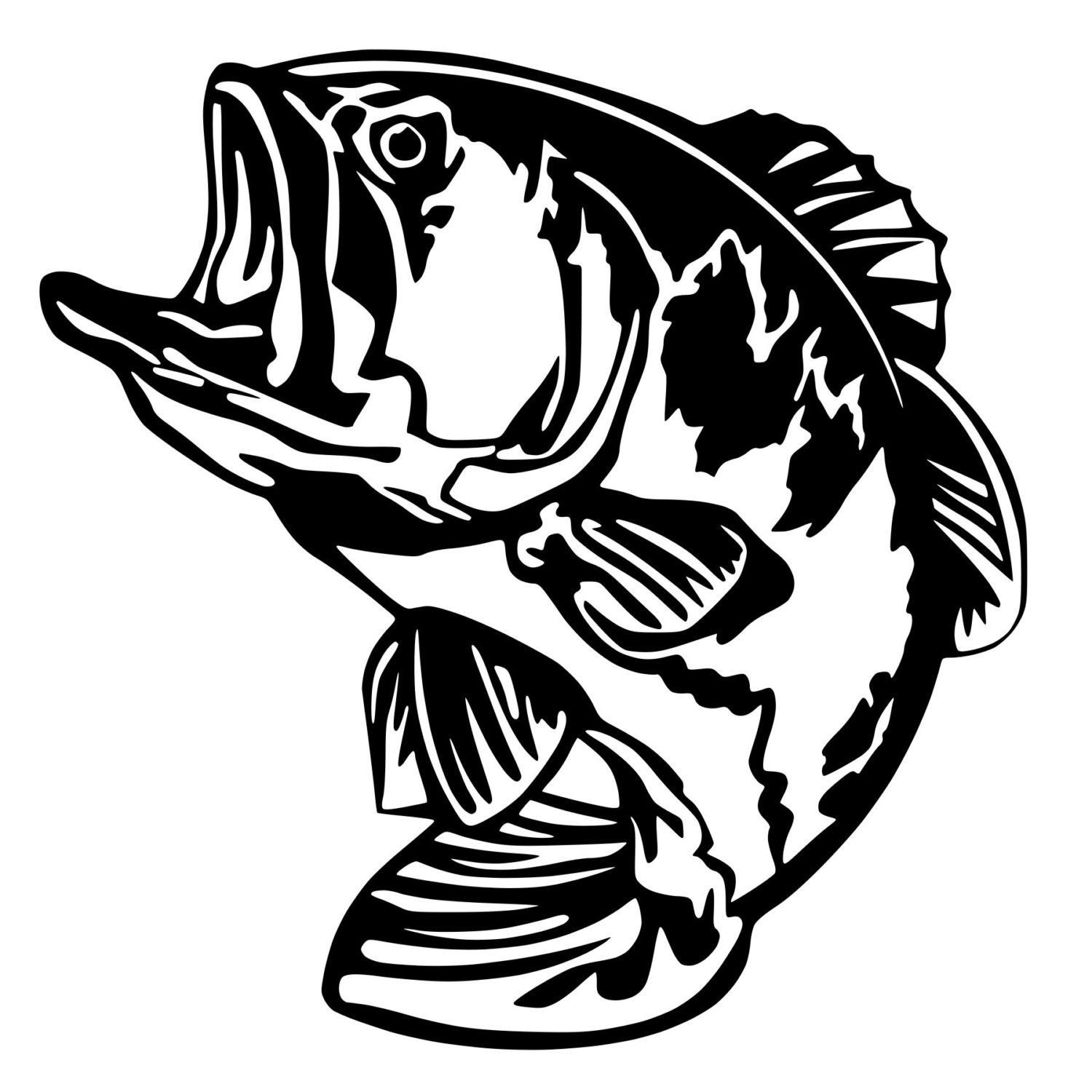 For your consideration is a die cut vinyl bass fishing decal available in multiple sizes