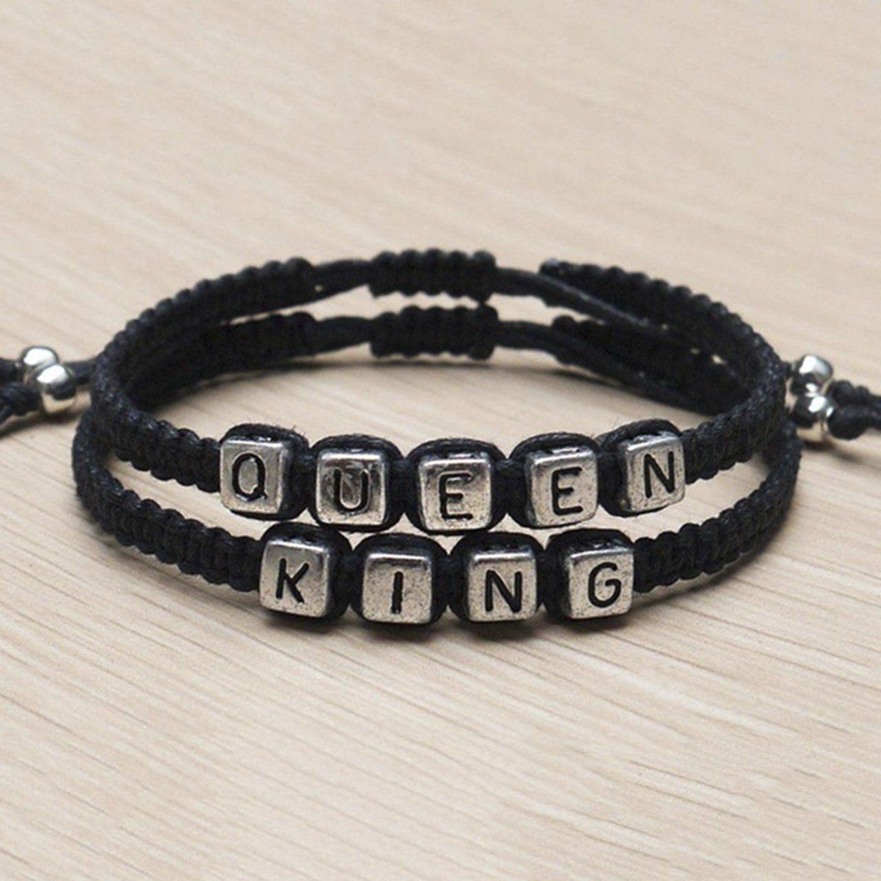 Handmade Couples Bracelets Set King And Queen Gift Bracelets