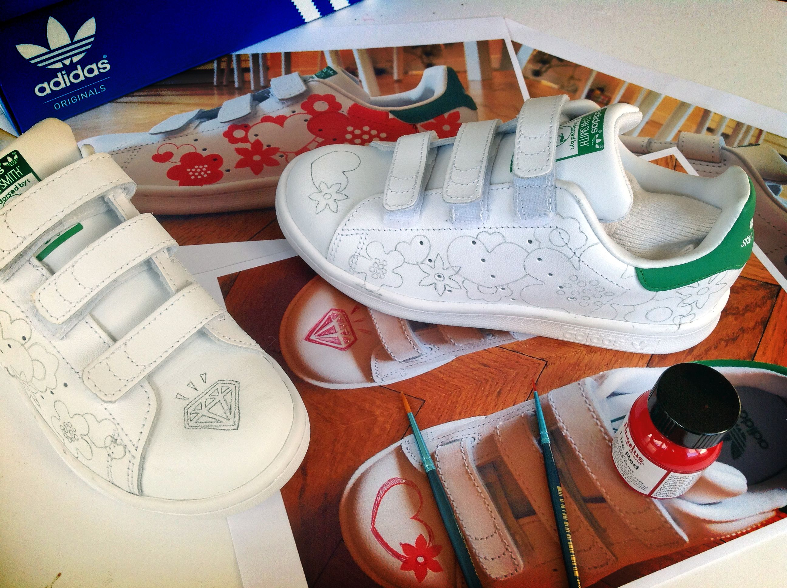 Custom #StanSmith by LBP. Early pencil study ready to be