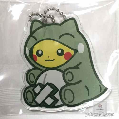 Pokemon Center 2016 Whimsicott Substitute Campaign Poncho Pikachu Whimsicott Substitute Plastic Keychain (Version #1)