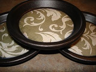 coasters made from the bottom of a terra cotta pot