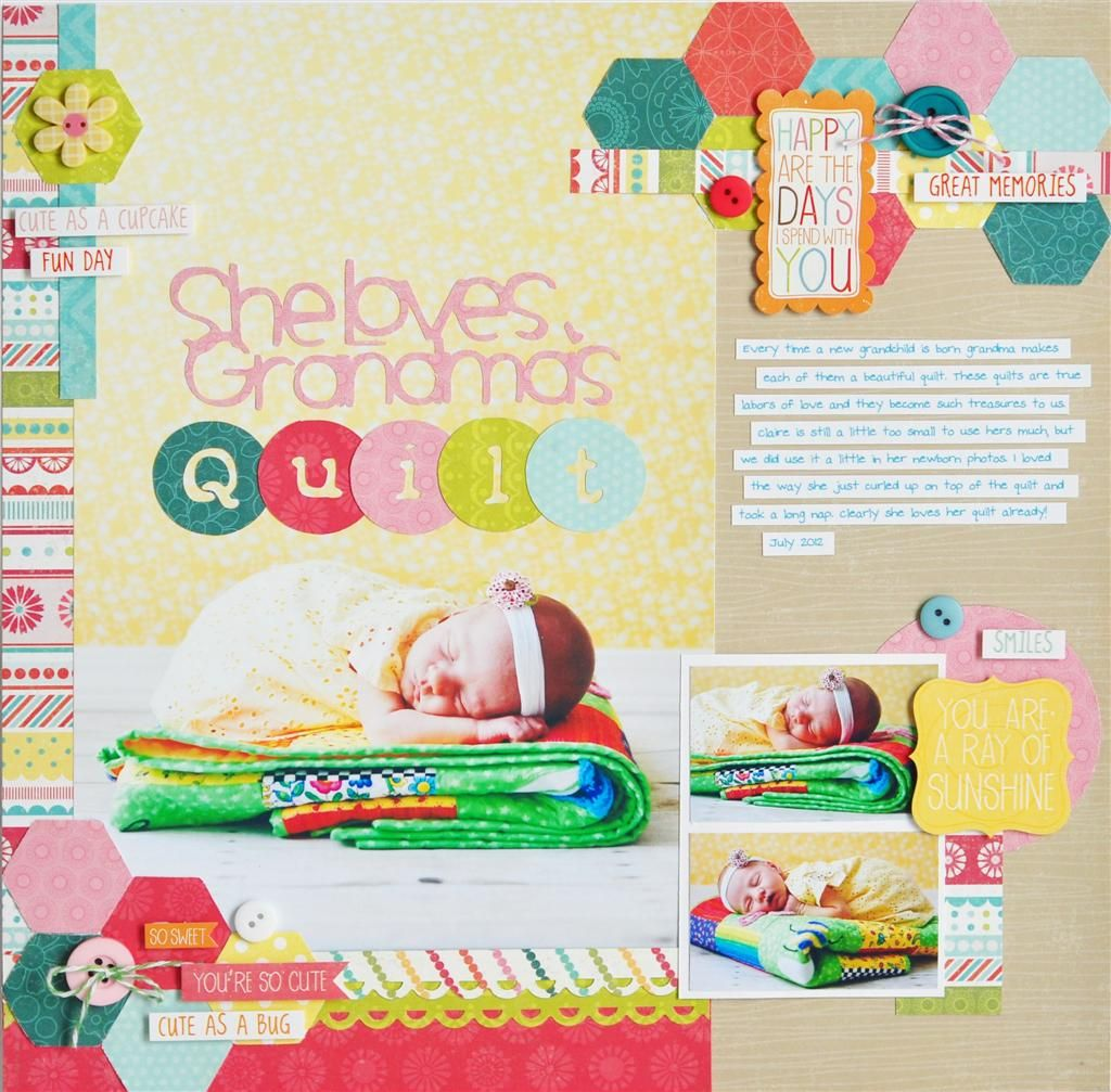 She Loves Grandma's Quilt - Scrapbook.com
