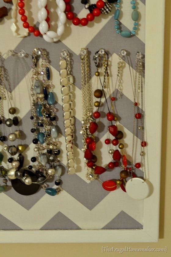 DIY Jewelry Organizer day 15 of 31 days of Pinterest Pinned to