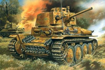 During the war, PzKpfw 38(t) were exported and saw service with German Allies including: Romania (50), Slovakia (90), Bulgaria (10) and Hungary (102).PzKpfw 38(t) also saw service with the Allies. Single tank was captured by British and French in May / June 1940, another example (turret number 543) was captured either during the Italian Campaign in 1943 or Normandy in 1944 and was tested in England.
