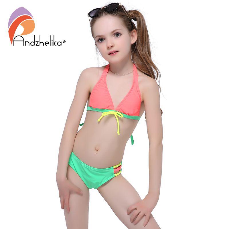 e91e171b73247 Andzhelika 2017 Summer Girls Bikini Cute Bow Two-Piece Suits Children  Swimwear big Bottom Swimming Suit Kid Bathing Suit    FREE Worldwide  Shipping!