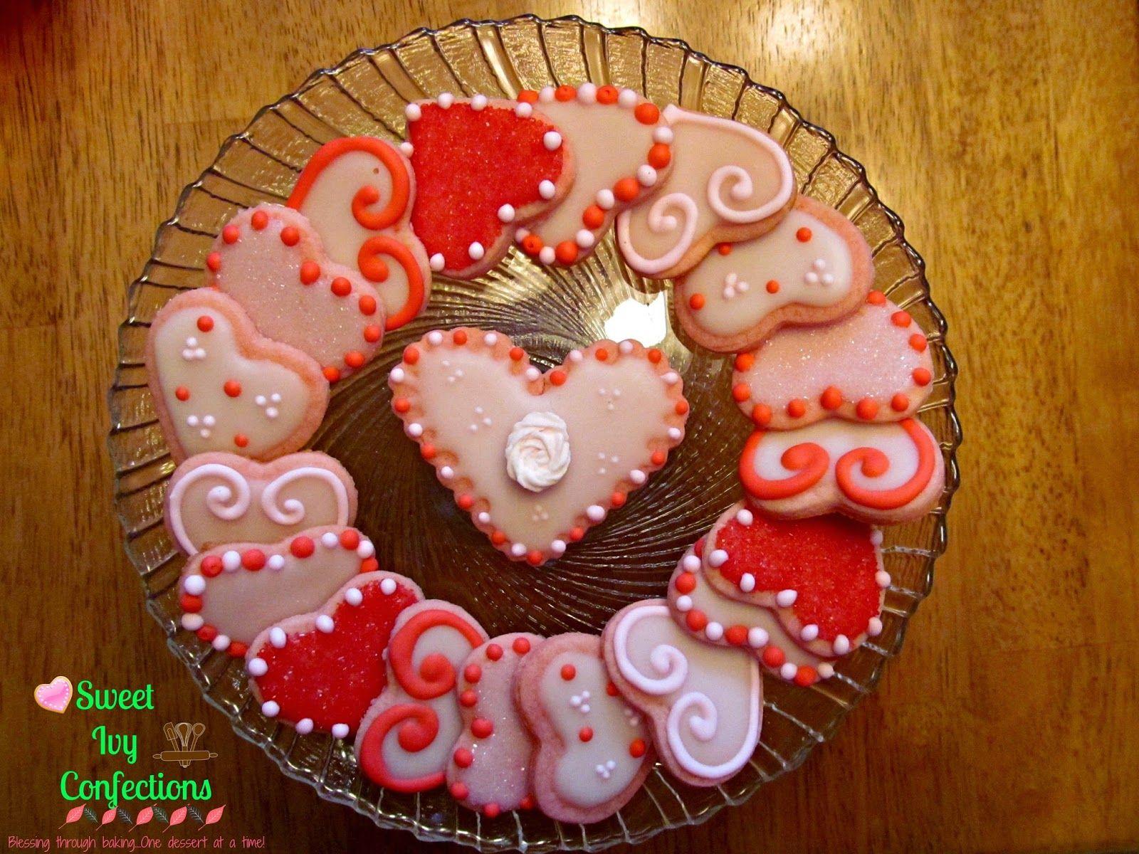 Sweet Ivy Confections...valentine cookies, heart cookies