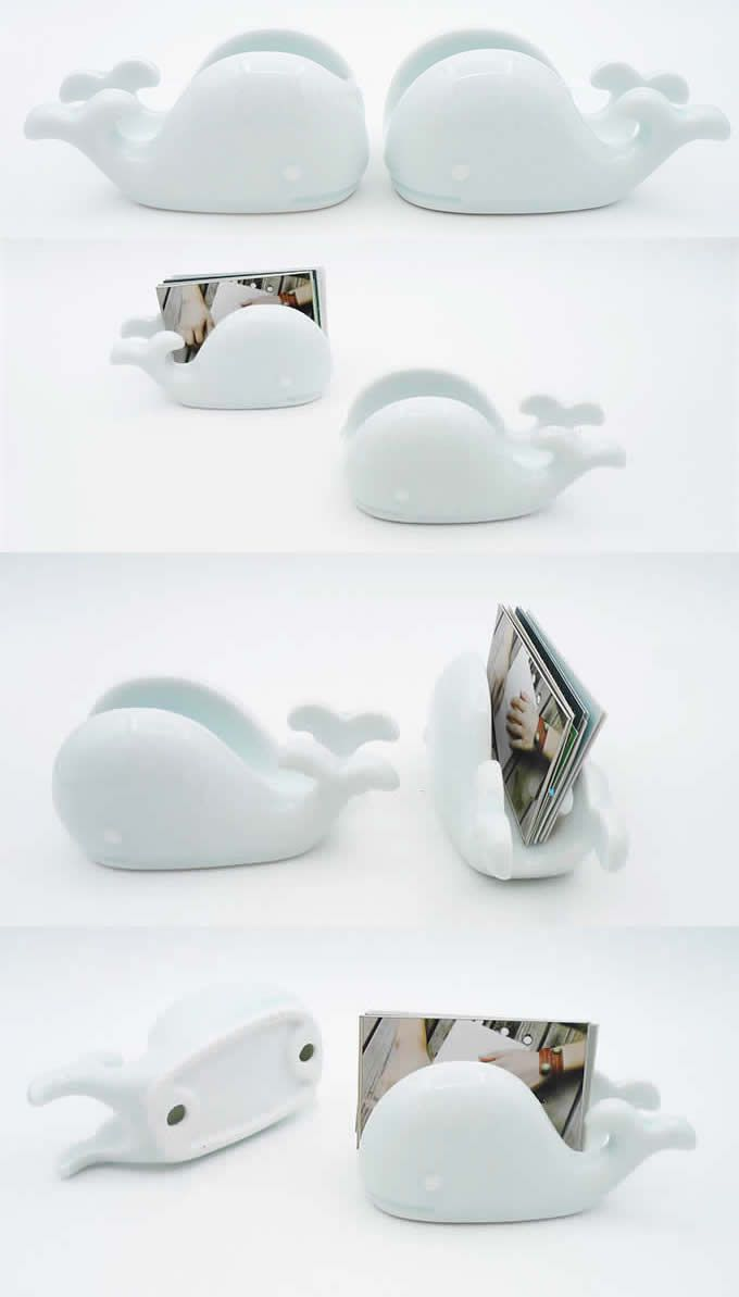 Ceramic Whale business card holder | Pottery - Functional Card ...