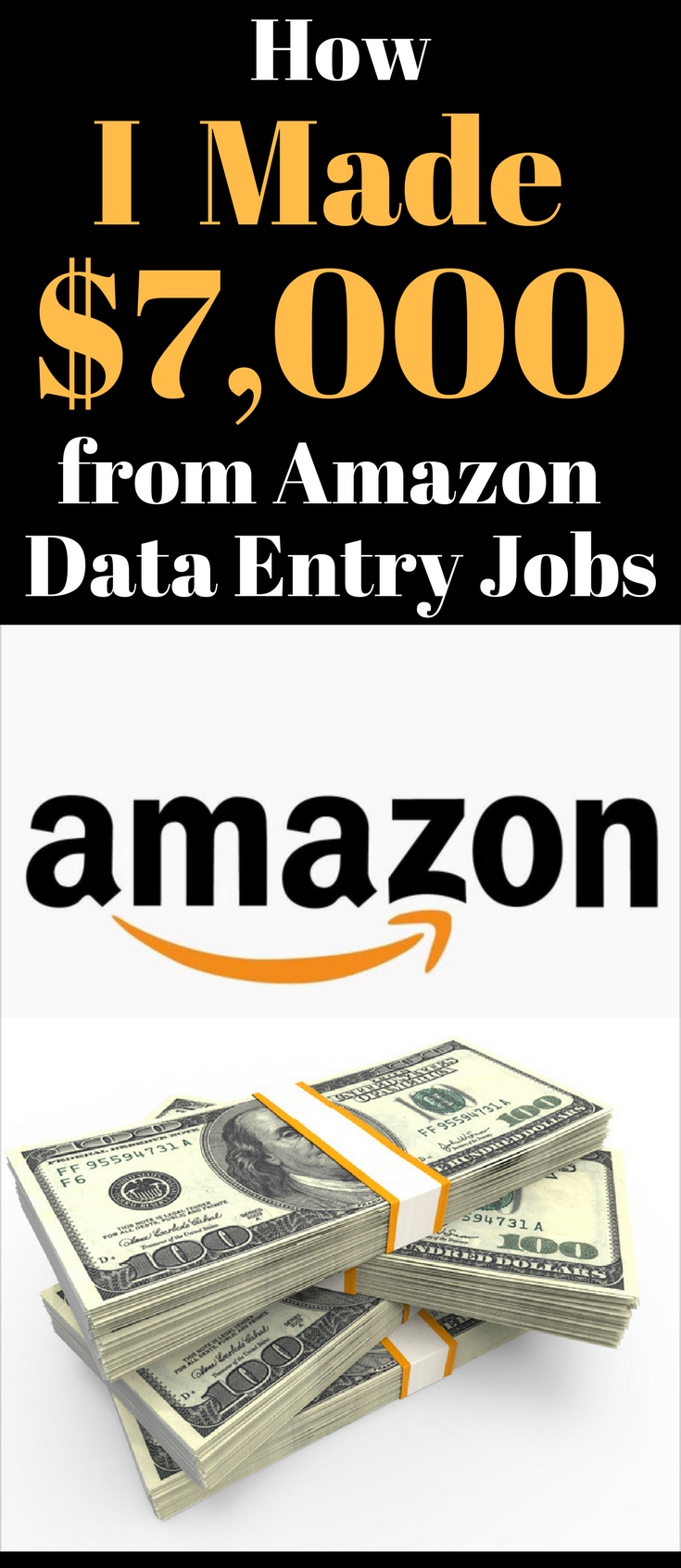 How I Made $7,000 from Amazon Data Entry Jobs from Home | Data entry ...