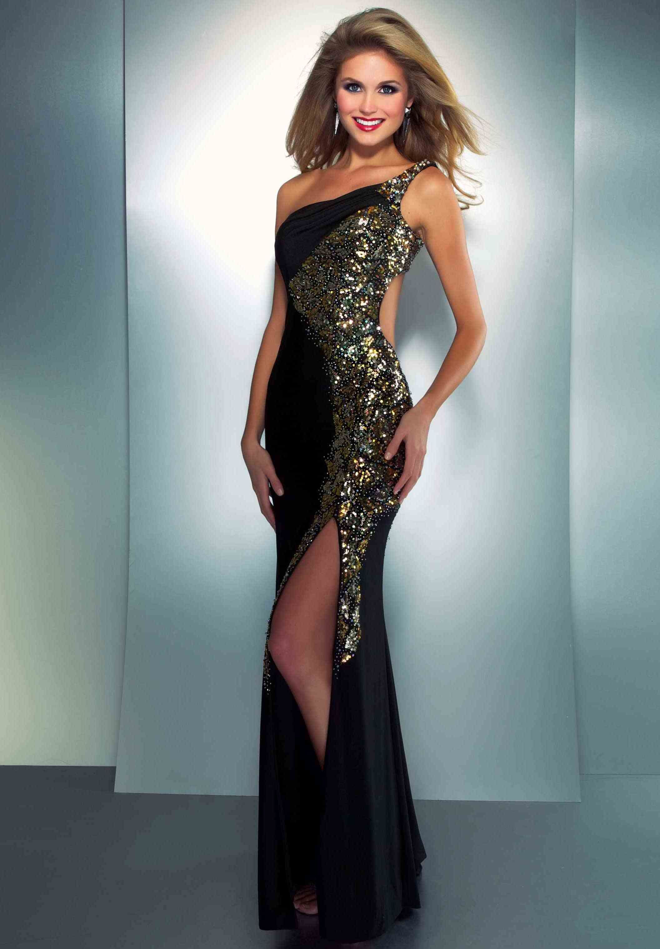 Funky Black Gold Prom Dress Collection - All Wedding Dresses ...
