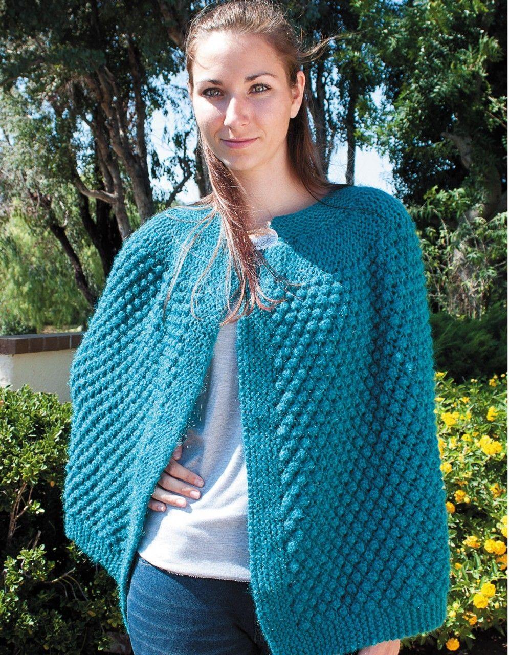 Fantástico Knitting Patterns For Ponchos And Shawls Motivo - Manta ...