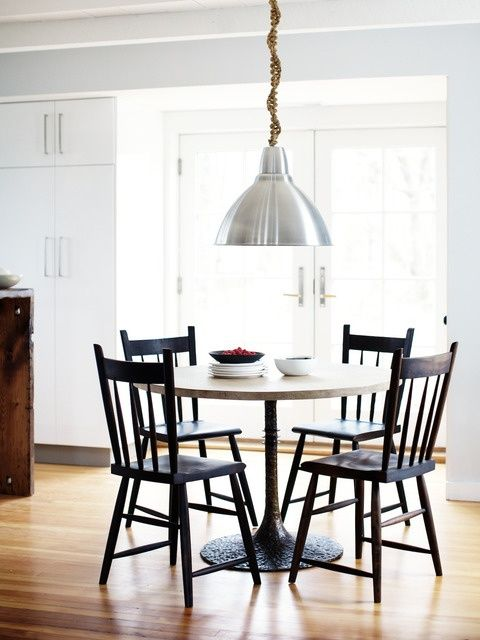 Marvelous Kitchen Eat In Inspiration   Use DWR Salt Chairs, Round Rustic Table. Ikea