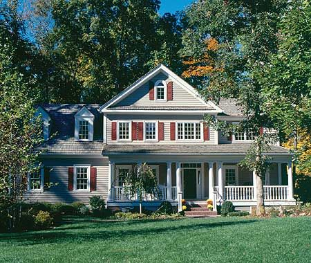Plan 56117AD: Classic American Country Home   Bonus rooms, Sitting ...