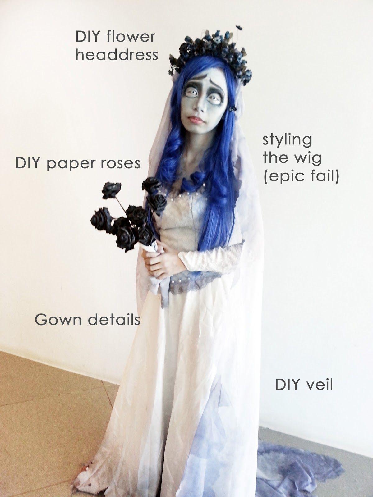 Corpse Bride Halloween Costume Diy.Diy Corpse Bride Halloween In 2019 Corpse Bride