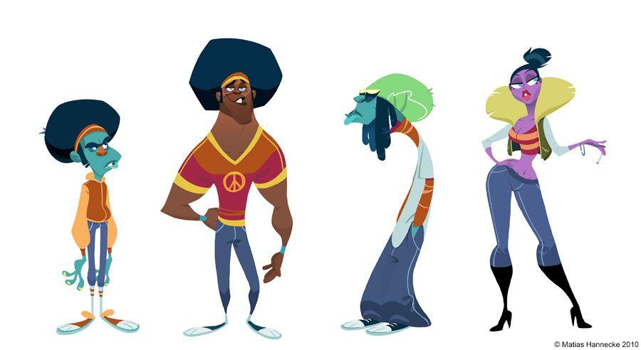 Personagens bacanões de Matias Hannecke