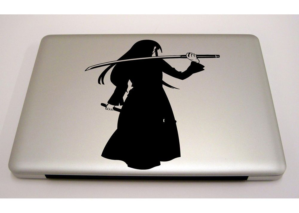 MACBOOK IPAD LAPTOP VINYL STICKER DECAL CUSTOM SIZE ANIME WARRIOR - Custom vinyl laptop decals