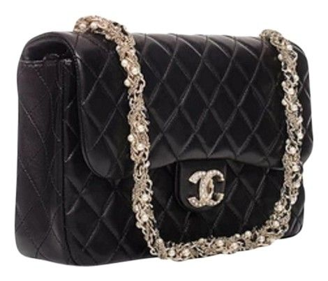 1e0eed72c744 Get the trendiest Clutch of the season! The Chanel Limited Edition  Westminster Pearl Flap Black Clutch is a top 10 member favorite on Tradesy.