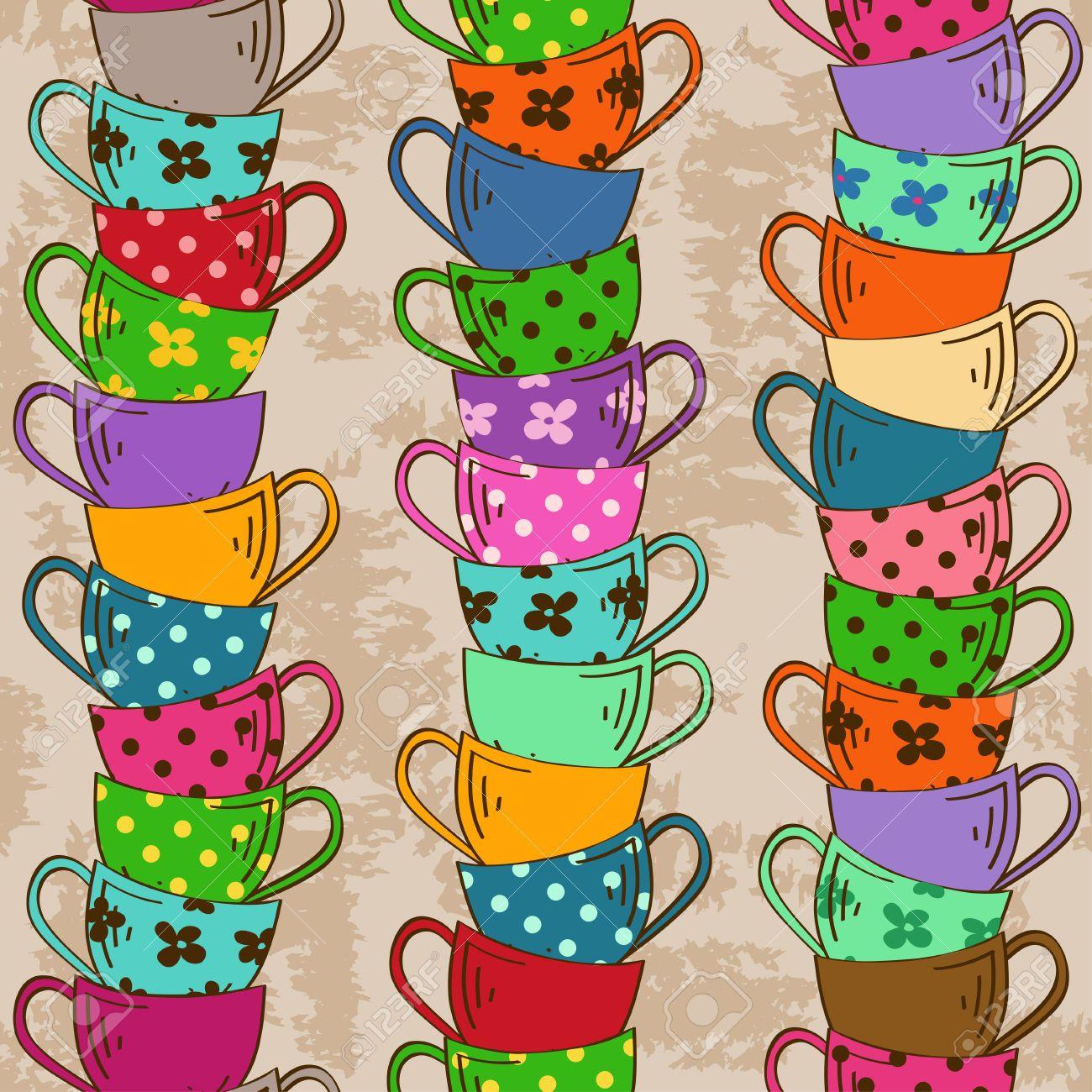 tazas de te vintage dibujo - Buscar con Google