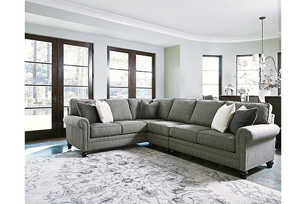 Graphite Kittredge Sectional View 1 If we forgo the end table on the right side.this is 8 ft long and i think timberlea furniture may be able to get it.  sc 1 st  Pinterest : 8 ft sectional sofa - Sectionals, Sofas & Couches