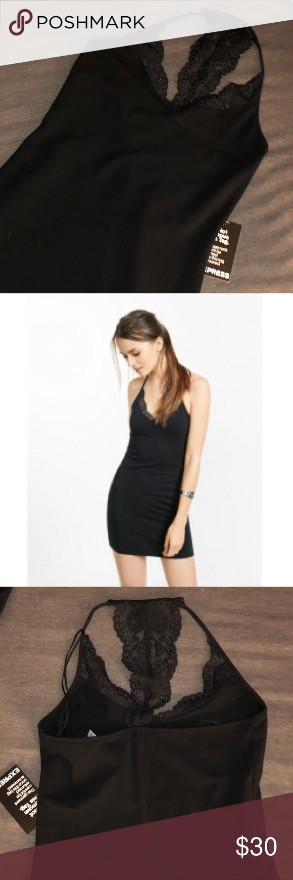 Brand new express little black dress nwt