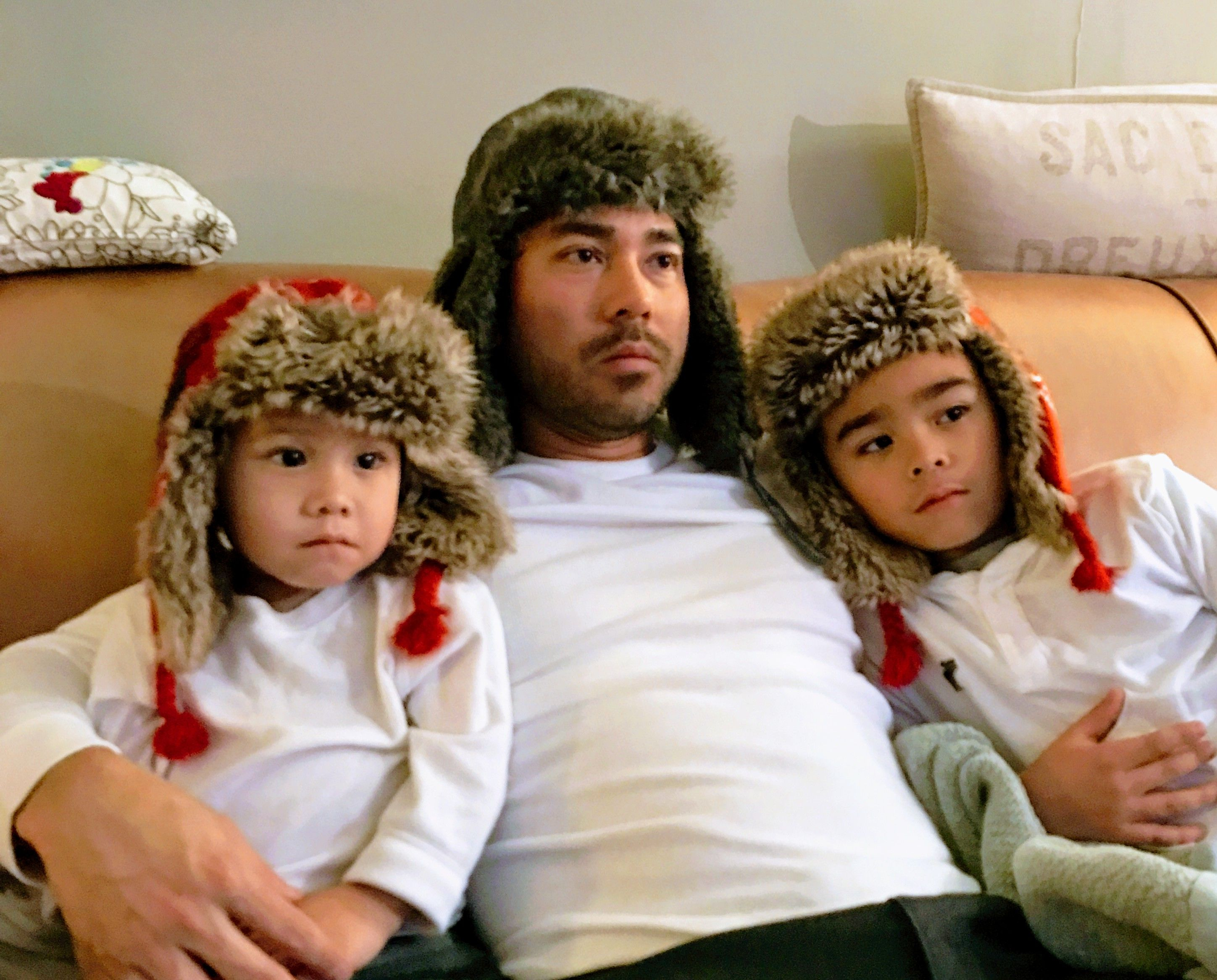 Told my son that we were going to watch happy feet. He brought our hats.... Part 2! http://ift.tt/2fYmdxG