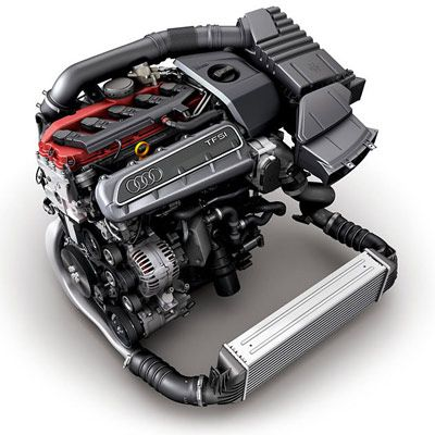 Audi 2 5 TFSI 5-cylinder turbocharged engine  #RS3 #TTRS