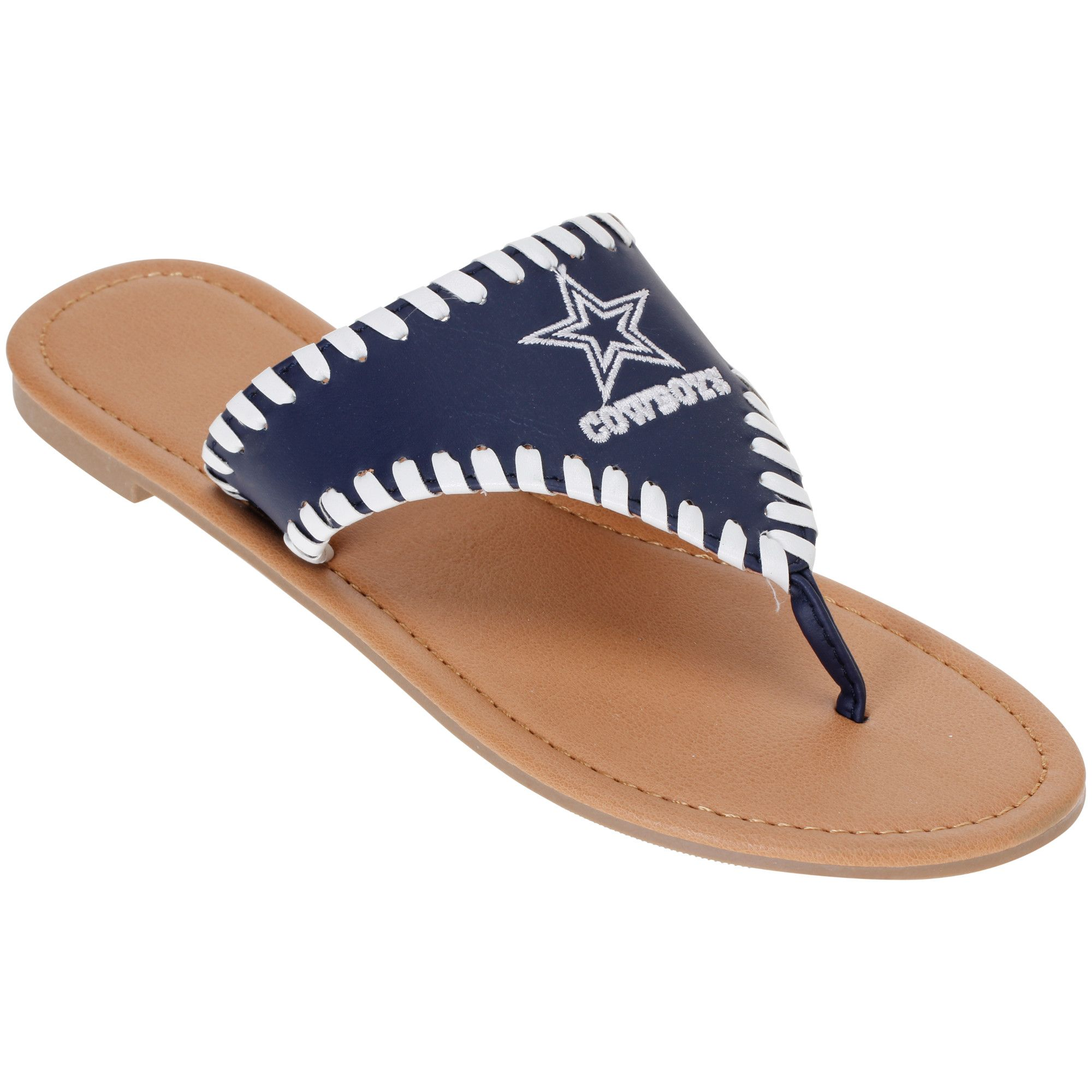 new concept e4e6f eecd2 NFL Dallas Cowboys Women s High End Sandals