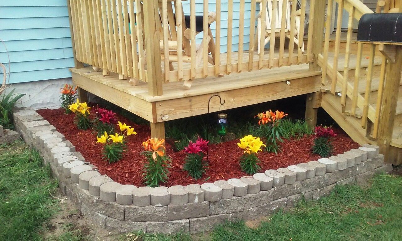 Colorful lilies add a pop of color to any front yard red