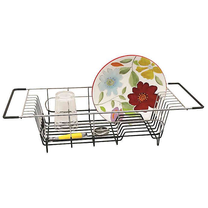 Stainless Steel Over The Sink Dish Drainer Bed Bath Beyond