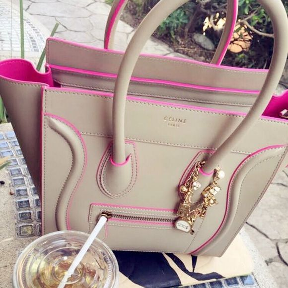 05ed59e5952f Celine Handbags - Gorgeous Celine Micro Luggage w Pink Lining ...