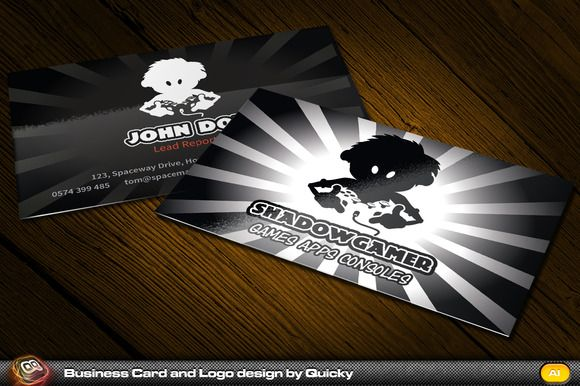 Shadow gamer business card logo by quicky on creative market shadow gamer business card logo by quicky on creative market colourmoves