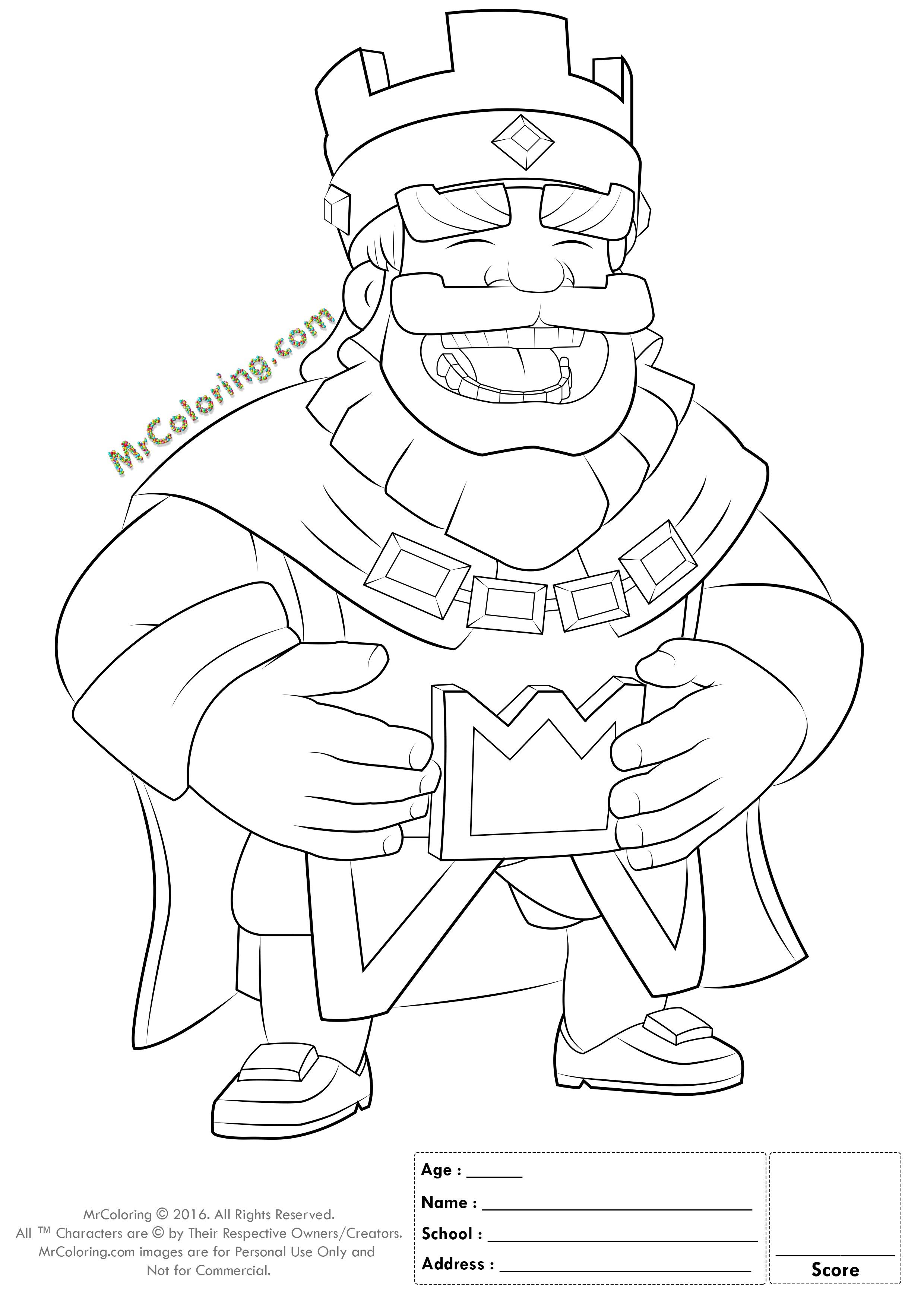 Clash Royale Princess Coloring Pages From The Thousand