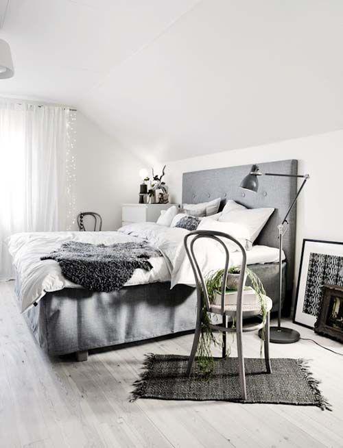 50 Amazing Scandinavian Bedroom Design Ideas   Grey Headboard