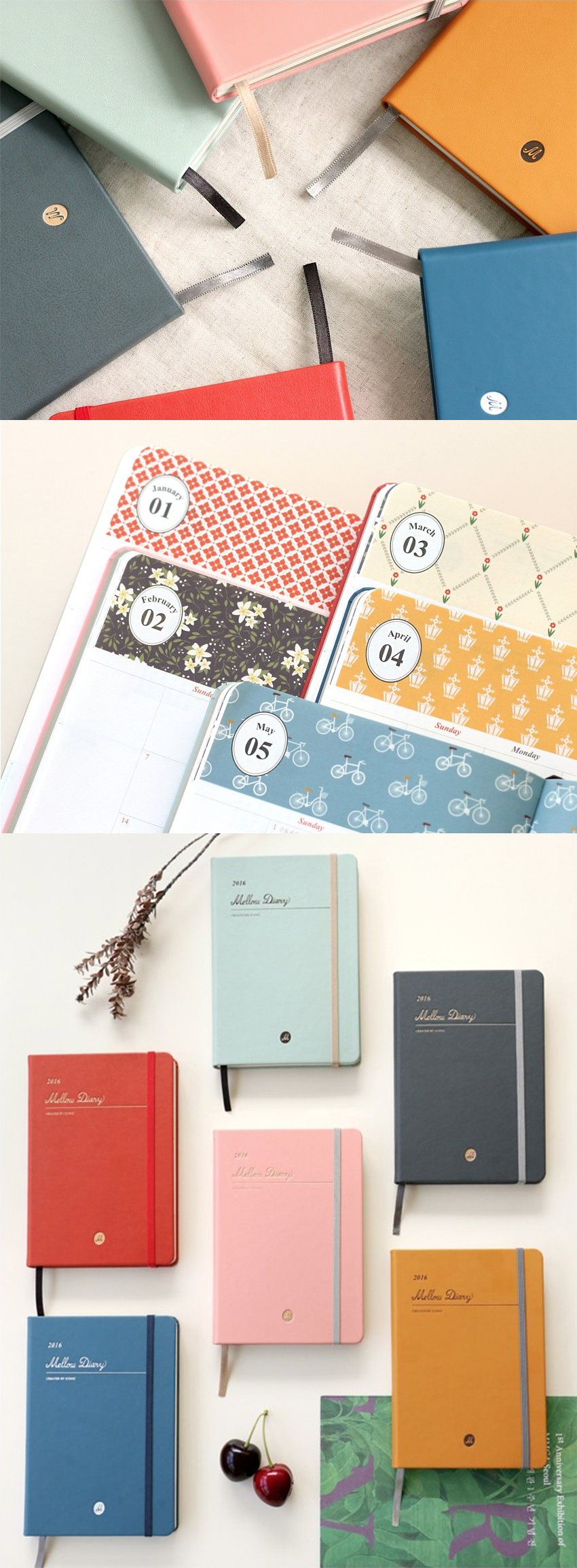 This elegant planner comes in a variety of beautiful colors. Each planner also comes with a sheet of deco stickers to make your planner unique and just the way you like it!