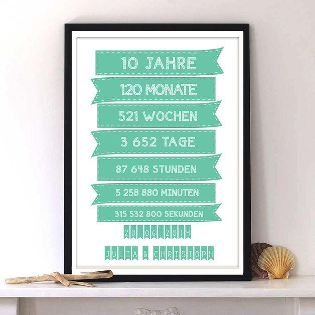 Weiteres Geschenk Zum Hochzeitstag Hochzeit Print Ein