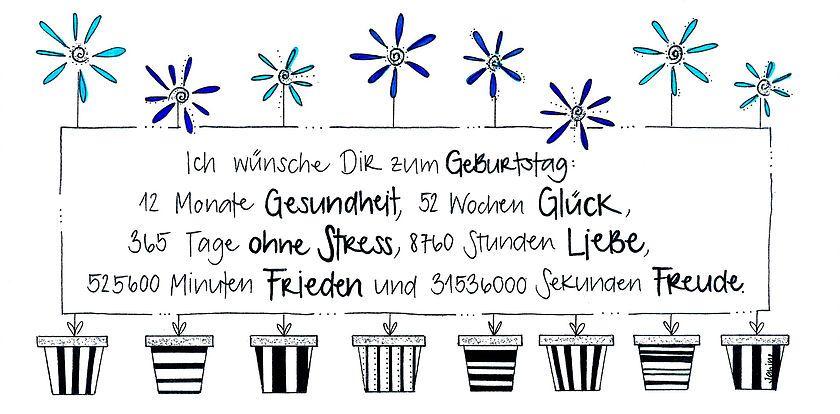 365 Tage Geburtstagskarte Faltkarte Wunsche Zum Geburtstag