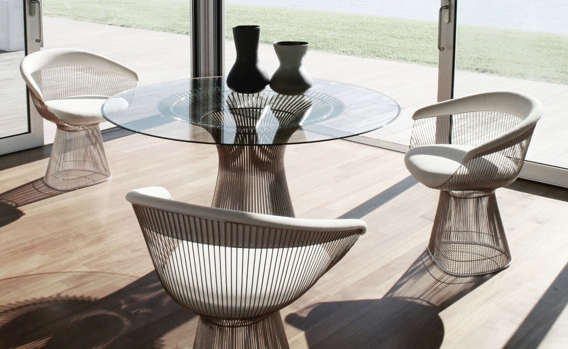 Knoll Warren Platner Dining Table And Chairs