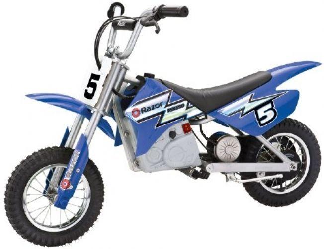 Rocket Electric Motocross Bike Razor Mx350 Dirt Motorcycle Ride Battery Blue New