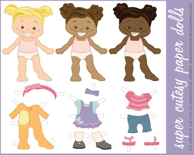peonies and poppyseeds free paper dolls printable black african american person