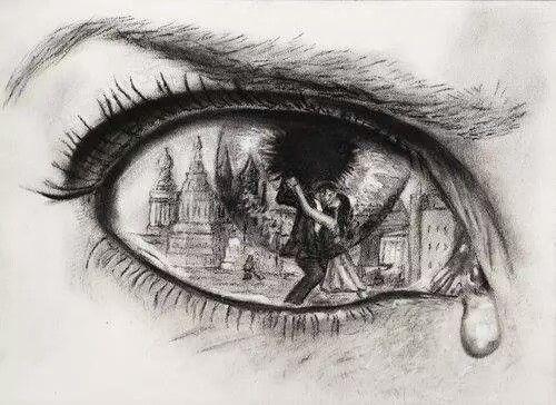 sad eyes with tears drawing google search art pinterest sad