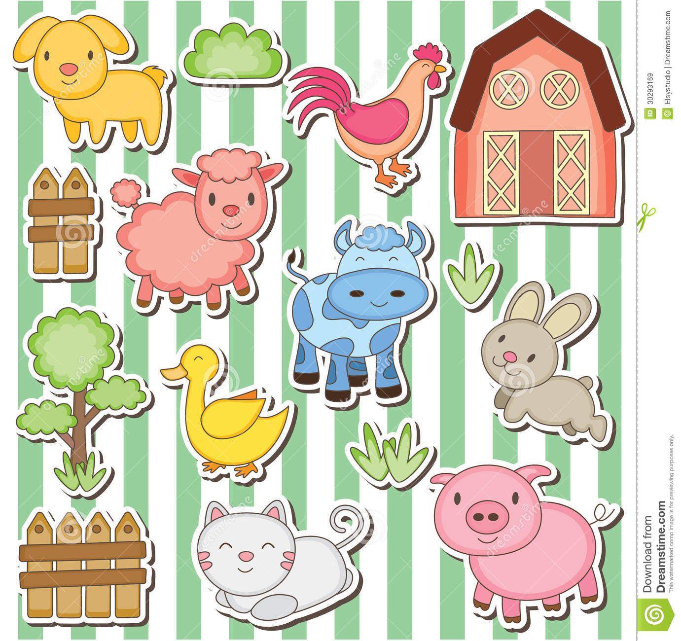 Farm Animals Clipart. Farm Clip Art Set, Barnyard Animals Clipart ...