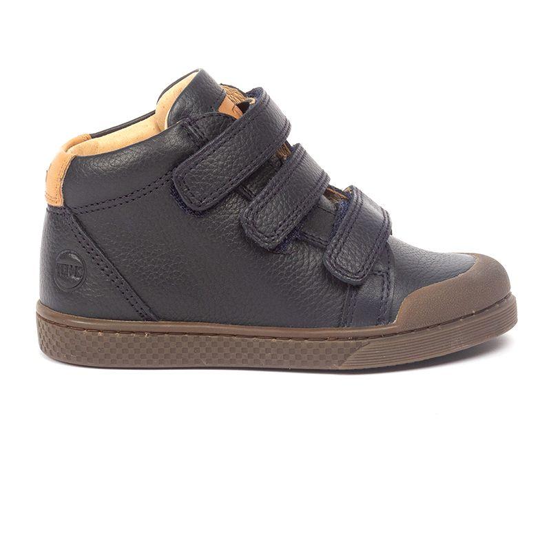 Sneakers montantes en cuir à triple velcros Ten W V3 Freesia Embosse Navy par 10IS Ce contenu est apparu en premier sur aimeelafee.com
