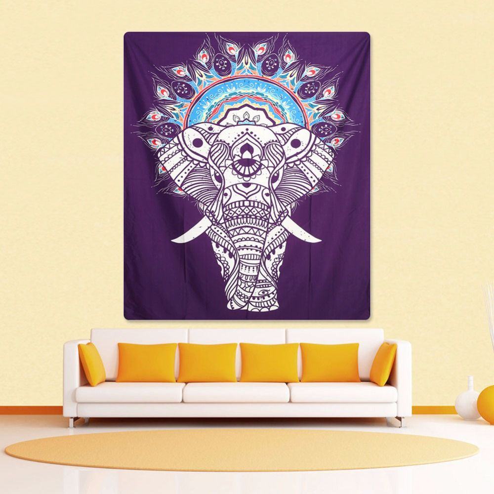 Indian Home Decorative Wall Hanging Tapestry Beach Towel Elephant ...