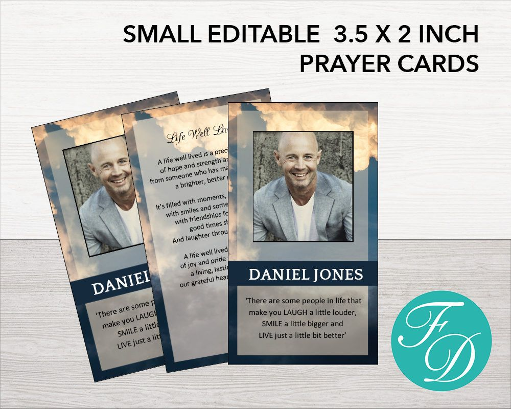 Printable Prayer Card, Memorial ideas, funeral ideas, funeral ...
