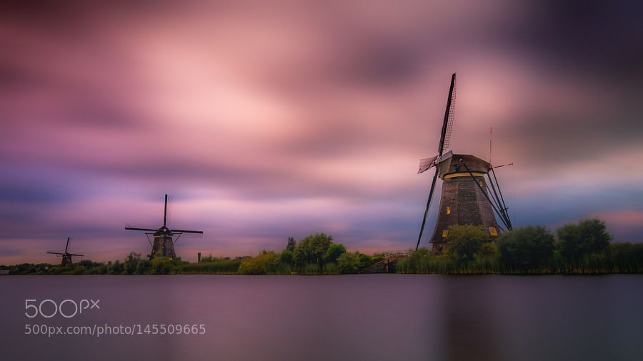 Colored Kinderdijk by HatCatPhotography. Please Like http://fb.me/go4photos and Follow @go4fotos Thank You. :-)