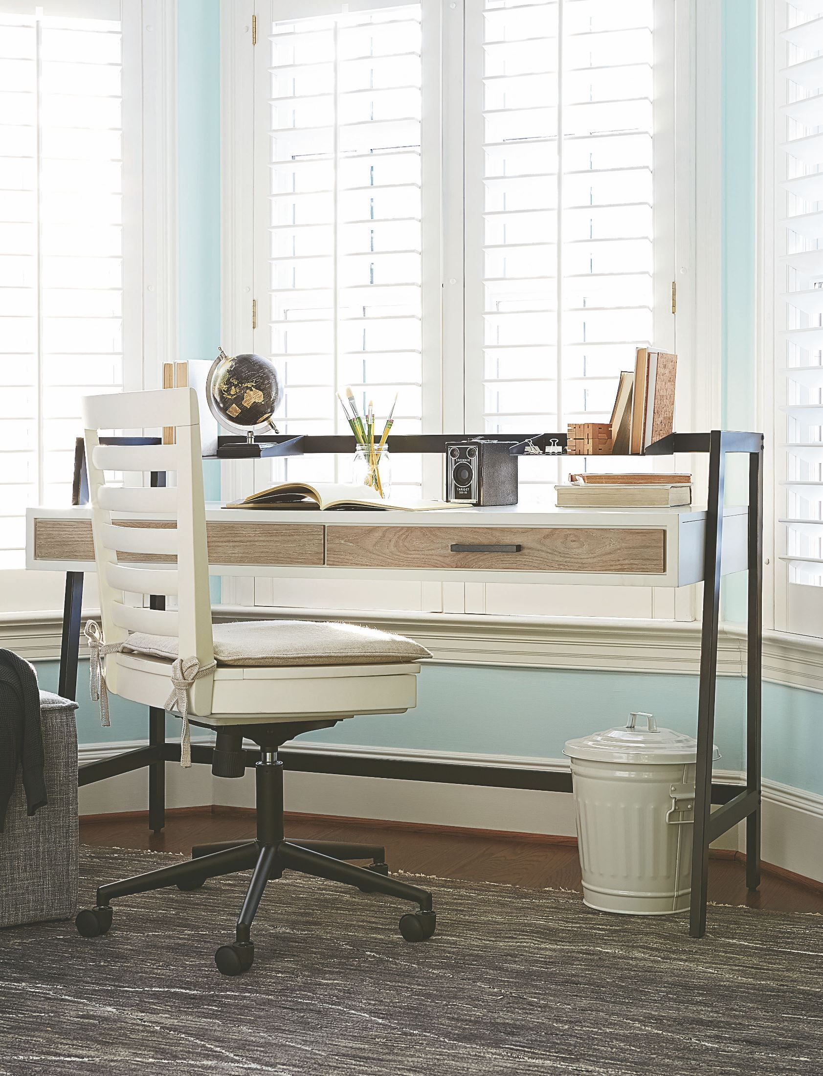 Gray Youth Group Rooms: MyRoom Parchment And Gray Desk